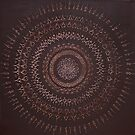 Dimensional Mandala : Brown hues by danita clark