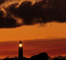 Light House Silhouette by fotosic