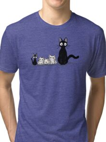 Jiji and kittens  Tri-blend T-Shirt