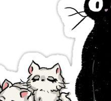 Jiji and kittens  Sticker