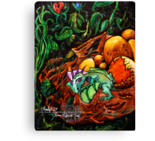 last one out is a rotten egg Canvas Print