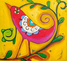 Sun on the Lovebird by ART PRINTS ONLINE         by artist SARA  CATENA