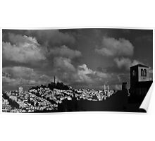 Clouds over San Francisco Poster