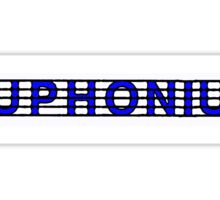 Euphonium Blue Sticker
