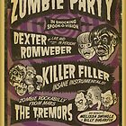 Zombie Party Poster by deathray66