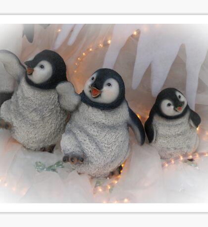 Three jolly Christmas penguins Sticker