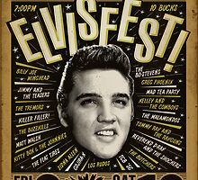 Elvisfest Poster by Jason Lonon