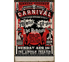 Psychobilly Burlesque Carnival Poster Photographic Print