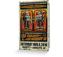 Rockabilly Robot Battle Poster Greeting Card