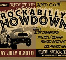 Rockabilly Showdown Poster by deathray66