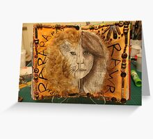 Altered Book - Innerself - Totem  Greeting Card