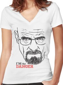 Walter White Breaking Bad Women's Fitted V-Neck T-Shirt