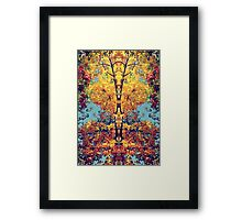 Autumn Totem Pole Framed Print