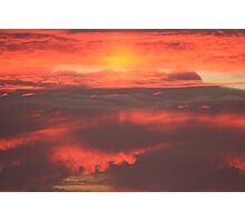 Pink and Orange Sunset in Oregon Photographic Print