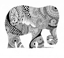 Elephant abstract by embeedesigns