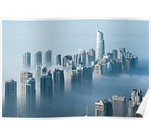 Jumeirah Clouds Towers Poster