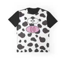 Cow Face, Cow Nose, Cow Spots - Pink Black White Graphic T-Shirt