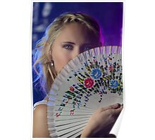 A fan of flowers Poster