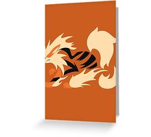 Legendary Flame - Arcanine (Fierce) Greeting Card