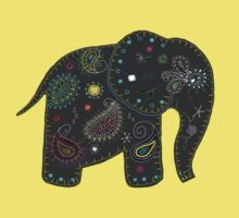 grey embroidered elephant Kids Clothes