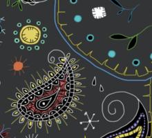 grey embroidered elephant Sticker