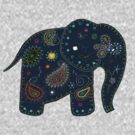blue embroidered elephant by © Karin (Cassidy) Taylor