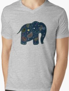 blue embroidered elephant T-Shirt