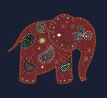 Red embroidered elephant by © Karin (Cassidy) Taylor