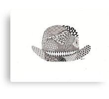 Bowler hat...morning sir Canvas Print