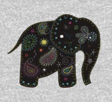 black embroidered elephant Kids Clothes