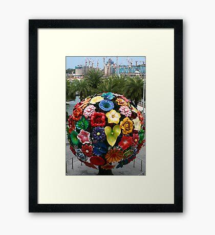 Singapore, flower ball VivoCity Framed Print