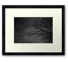 And the branches looked like scary fingers reaching Framed Print