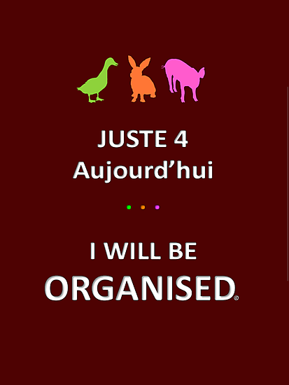 Juste4Aujourd'hui ... I will be Organised by DRPupfront