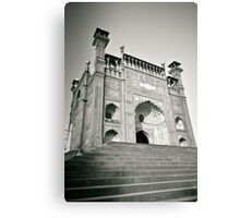 Entrance of Royal Mosque Lahore. Canvas Print