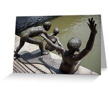 bronze children Greeting Card