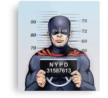 superhero in trouble Metal Print