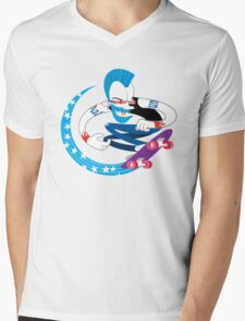 Skateboarding Punk Mens V-Neck T-Shirt