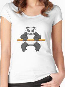 ninjitzoo - bamboo Women's Fitted Scoop T-Shirt