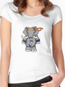 ninjitzoo - dung fu Women's Fitted Scoop T-Shirt