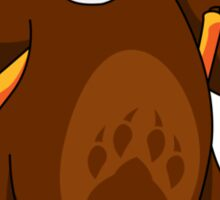 ninjitzoo - foe grizzle Sticker