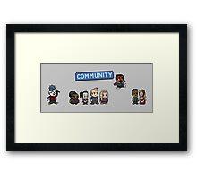 Pixel Community Framed Print