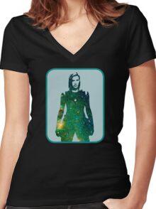 Starbuck - Battlestar Galactica Women's Fitted V-Neck T-Shirt