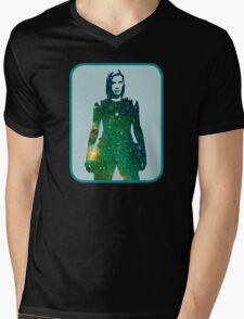 Starbuck - Battlestar Galactica Mens V-Neck T-Shirt
