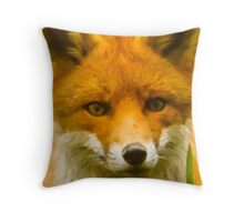 Peek a boo fox cub Throw Pillow