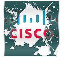 Cisco Logo White Glow Poster