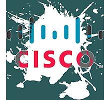 Cisco Logo White Glow Photographic Print