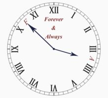 F&A Clock by Forever & Always