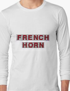 French Horn Red Long Sleeve T-Shirt