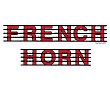 French Horn Red Photographic Print