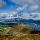 Derwent Water from Newlands Horseshoe, Lake District by Asher Haynes